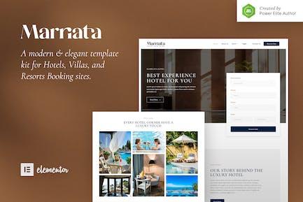 Marriata — Hotel & Resort Elementor Template Kit
