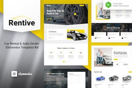 Rentive – Car Rental & Auto Dealer Elementor Template Kit