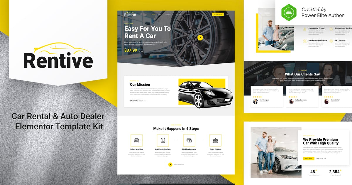 Download Rentive – Car Rental & Auto Dealer Elementor Template Kit by jegtheme