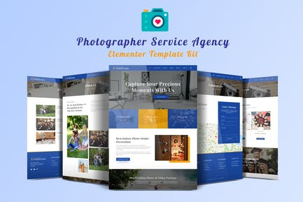 Onestudio - Photographer Agency Service Elementor Template Kit