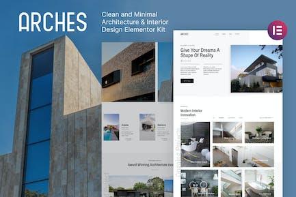 Arches — Architecture minimale et design d'intérieur Elementor Template Kit