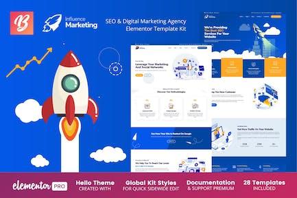 Einfluss Marketing - SEO & Digital Agentur Elementor Template Kit