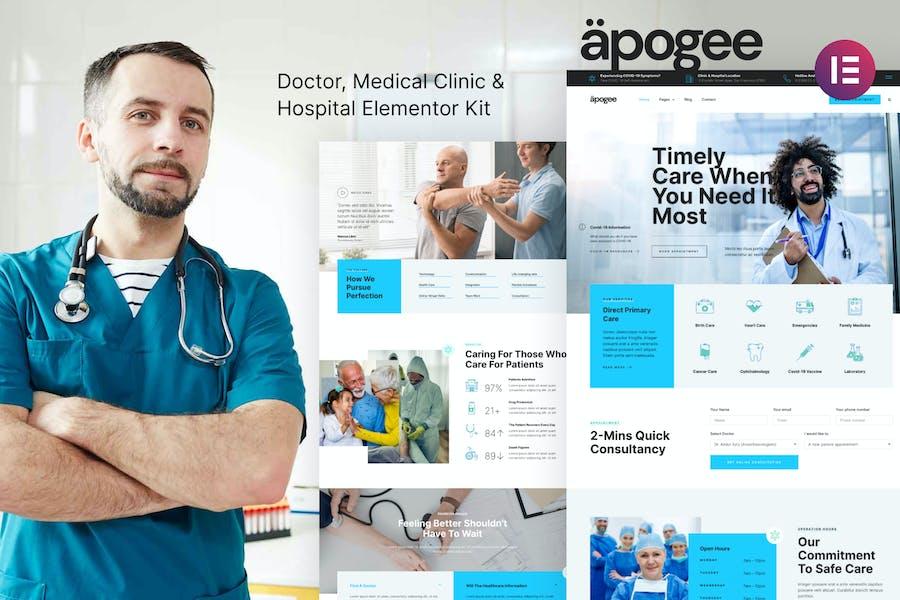 Apogee — Ärztliche Klinik & Krankenhaus Elementor Template Kit