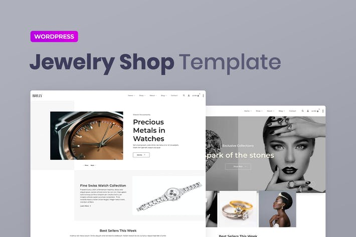 Brilly — Joyería WooCommerce Elementor Template Kit