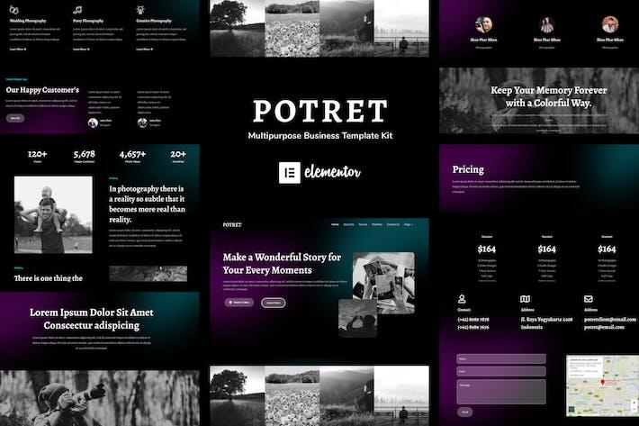 Potret - Photography Portfolio Elementor Template Kit