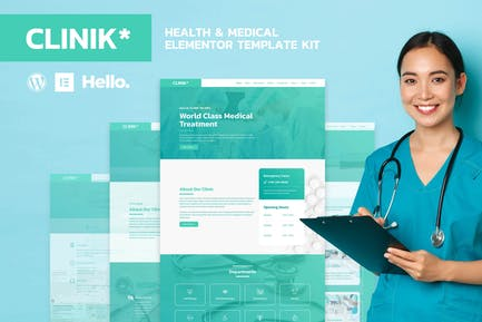 CLINIK - Hospital & Clinical Health Care Elementor Template Kit
