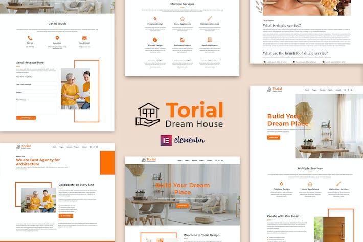 Torial - Kit de Plantilla Elementor de Diseño Interior