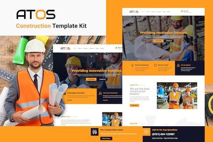 Atos - Construction Elementor Template Kit