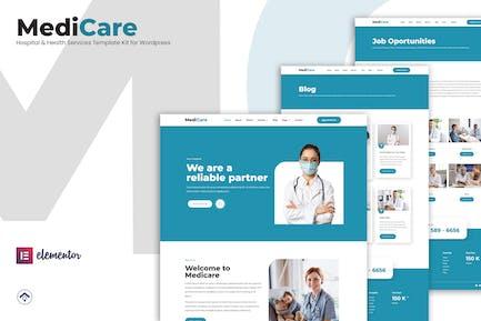 MediCare - Hospital & Health Service Elementor Template Kit