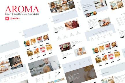 Aroma - Bakery & Cake Elementor  Template Kit