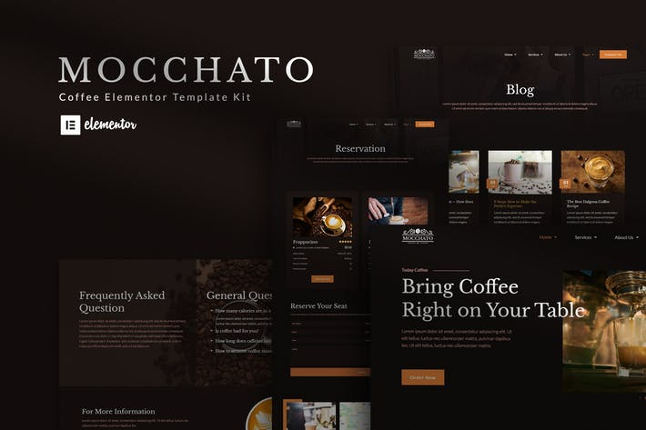 Mocchato - Coffee Shop Elementor Template Kit