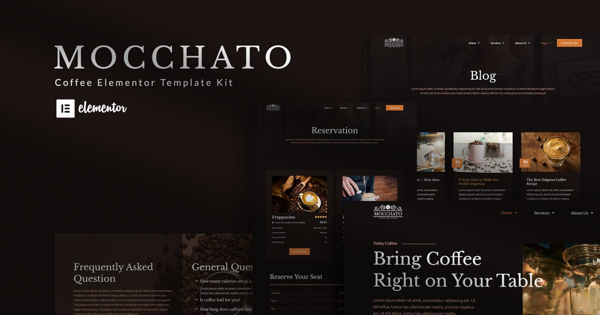 Download Mocchato - Coffee Shop Elementor Template Kit by Kitpro
