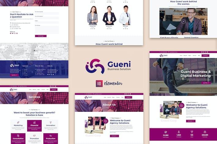 Gueni - Business Solution Elementor Template Kit