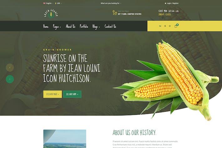 Grain Grower - Agriculture Farm & Farmers Elementor Template Kit