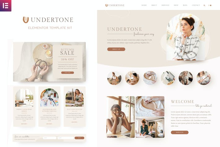 Undertone - Business Services & Shop Elementor Template Kit