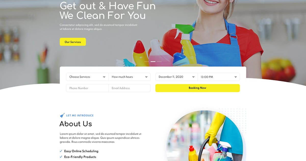Download Cleniz - Cleaning Services Elementor Template Kit by themesflat