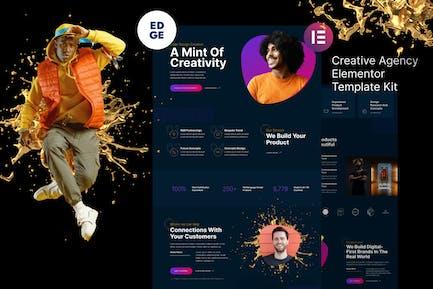 Edge – Modern Creative Agency Elementor Template Kit
