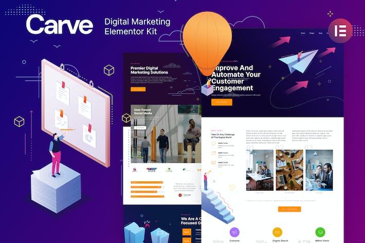Carve — Template Kit de Elementor de Marketing Digital