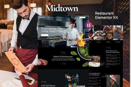 Midtown — Restaurant Elementor Template Kit