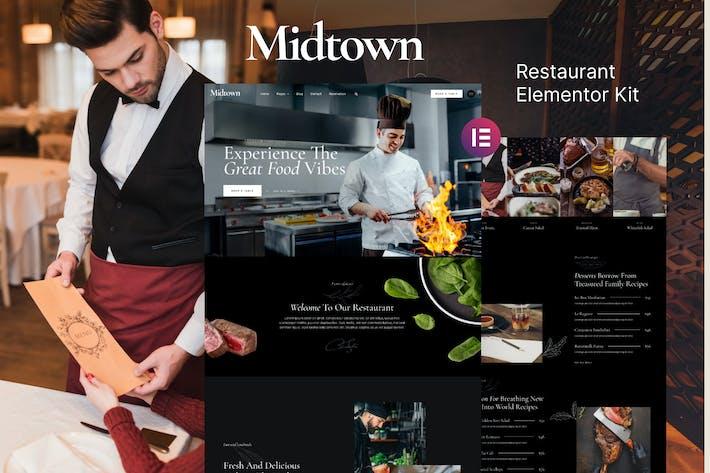 Midtown - Template Kit de restaurante Elementor