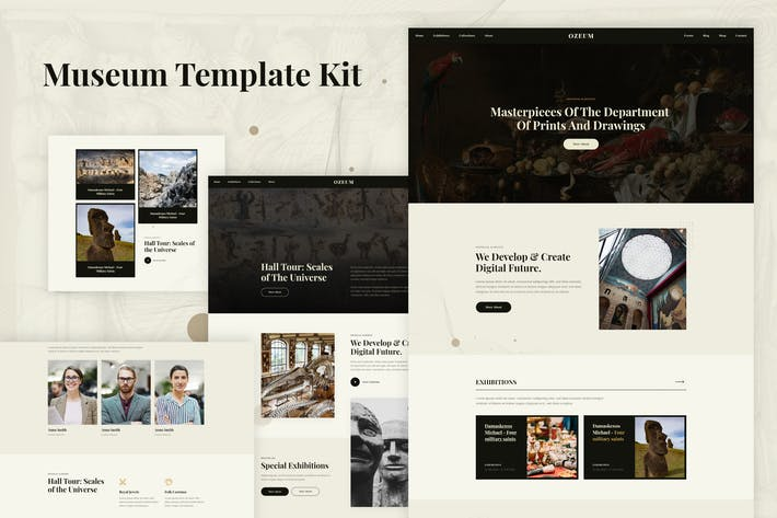 Ozeum - Modern Art Gallery & Museum Elementor Template Kit