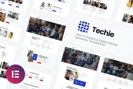 Techie | Tech Company & Digital Startup Elementor Template Kit