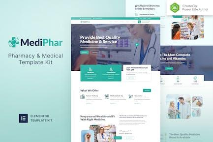 Mediphar - Template Kit para elementor de farmacia y medicina
