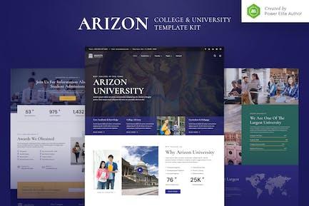 Arizon — College & University Elementor Template Kit