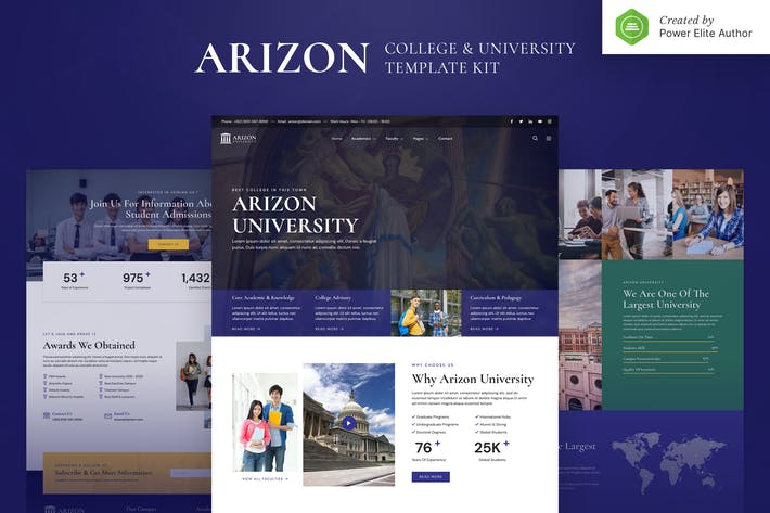 Arizon – College & University Elementor Template Kit