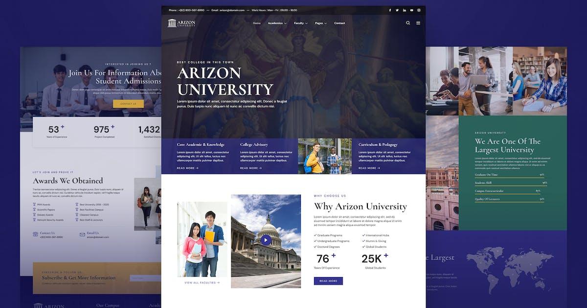 Download Arizon – College & University Elementor Template Kit by jegtheme