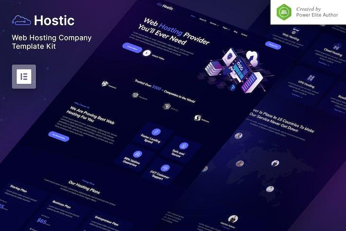 Hostic — Web Hosting Company Elementor Template Kit