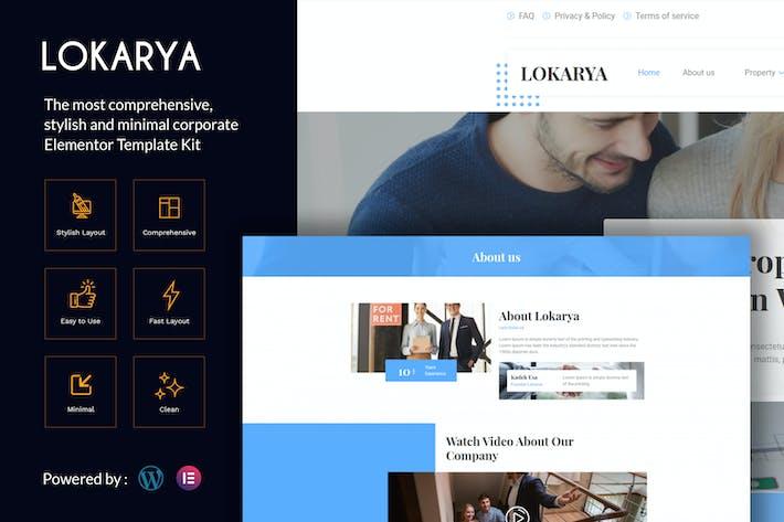 Lokarya - Immobilien Elementor Template Kit