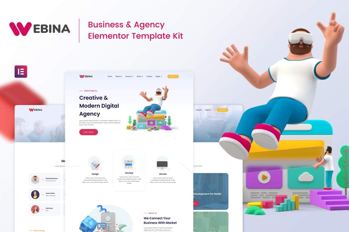 Webina - Business Agency & Startup Elementor Template Kit