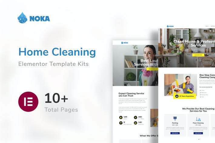 Noka - Cleaning Company Service Template Kit
