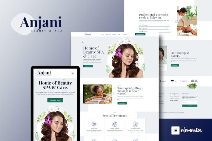 Anjani - Spa & Beauty Elementor Template Kit
