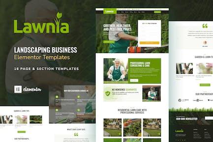 Lawnia - Gardener & Landscaping Business Elementor Template Kit
