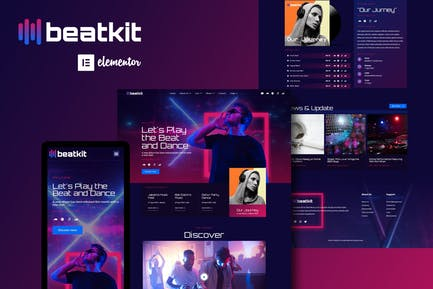 BeatKit - Music Events Elementor Template Kit