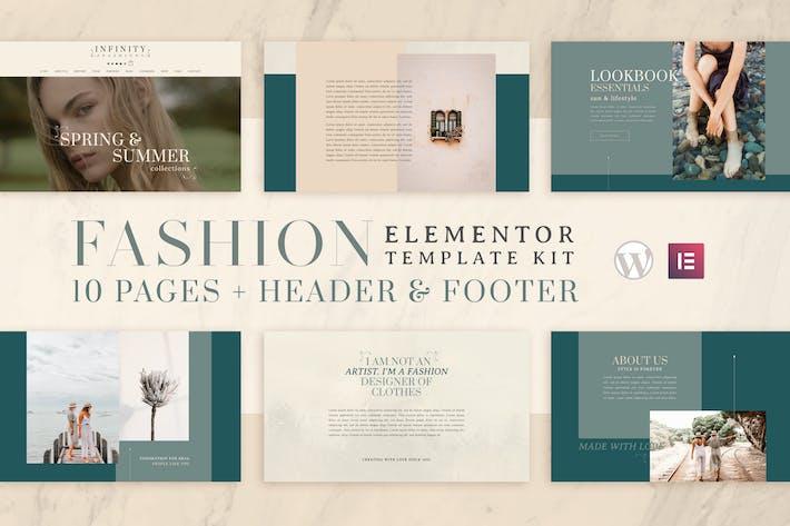 Infinity Fashion - WooCommerce Elementor Template Kit