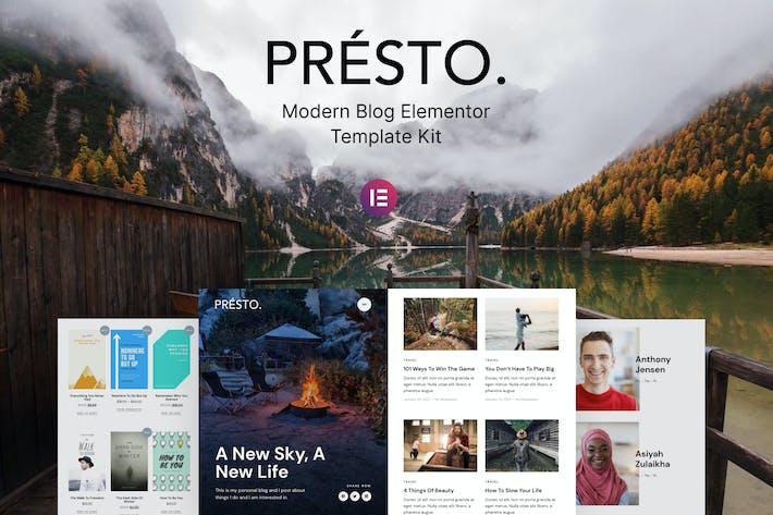 Presto – Modern Blog Elementor Template Kit