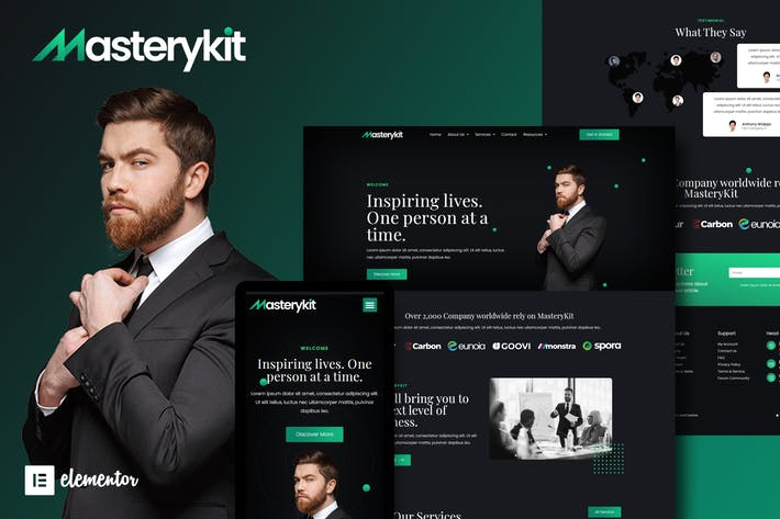 MasteryKit - Kit de Template Kit Elementor de Coach Empresarial
