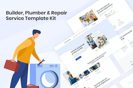Handyman | Baumeister Klempner & Reparaturservice Elementor Template Kit
