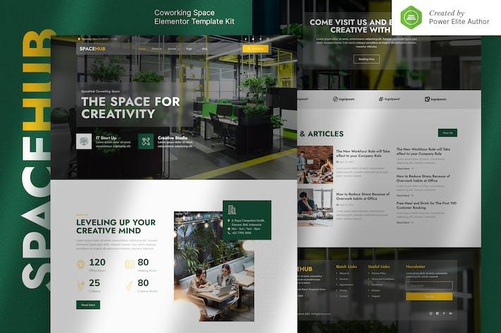 Spacehub — Template Kit de elementos de espacio creativo y coworking