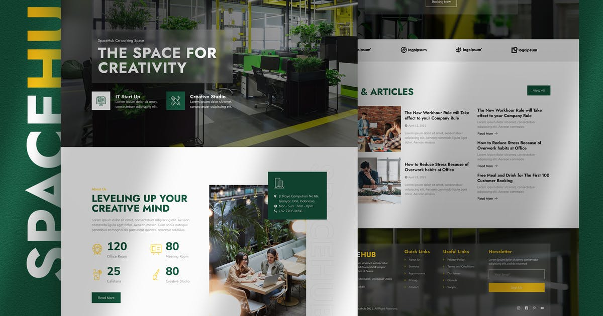 Download Spacehub – Coworking & Creative Space Elementor Template Kit by jegtheme