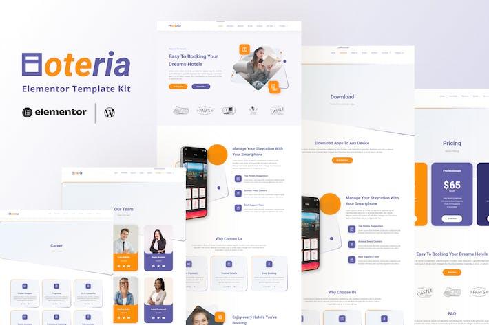 Hoteria - Hotel Service Elementor Template Kit