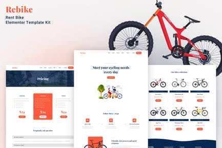 Rebike - Rent Bike Elementor Template Kit