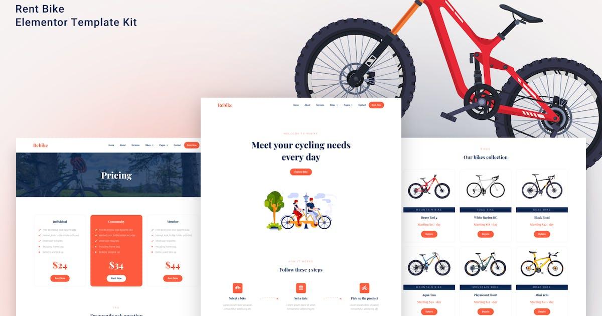 Download Rebike - Rent Bike Elementor Template Kit by aStylers