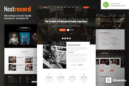Nextrecord – Recording & Sound Studio Elementor Template Kit