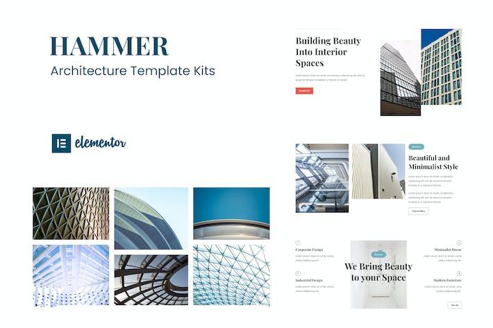 Hammer - Minimal Architecture Elementor Template Kit