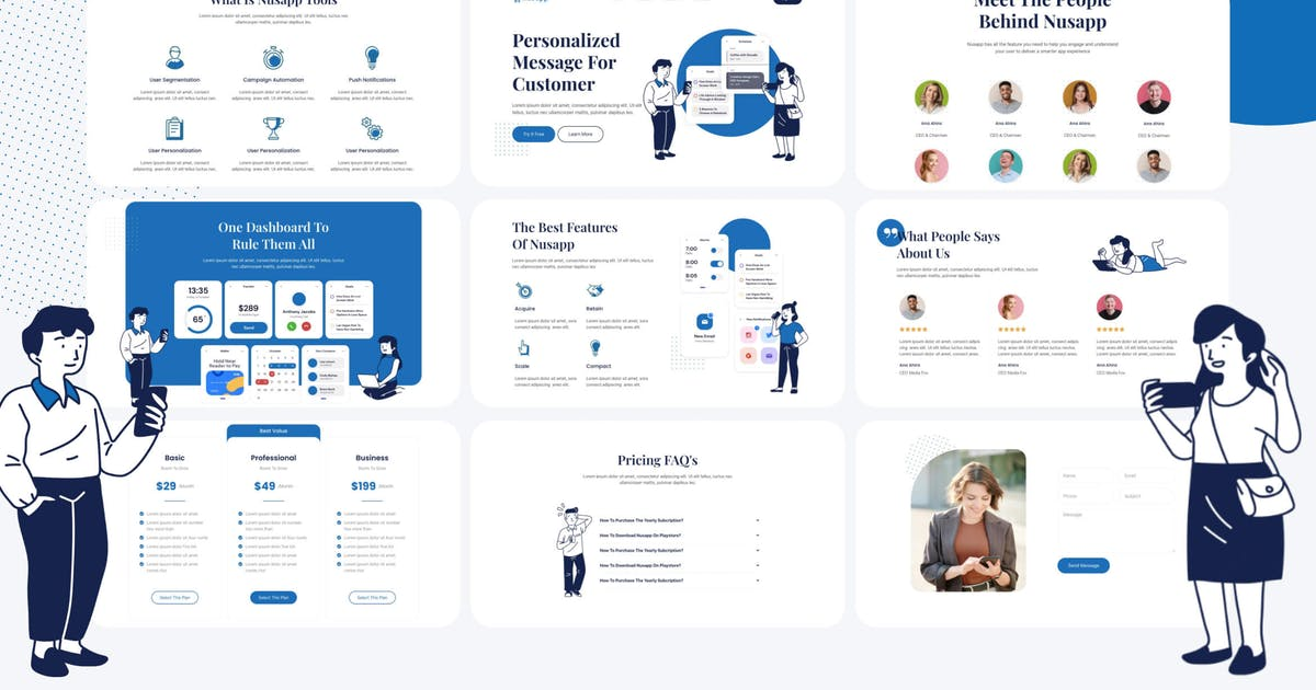 Download Nusapp - SaaS Startup & Business Elementor Template Kit by rootlayers