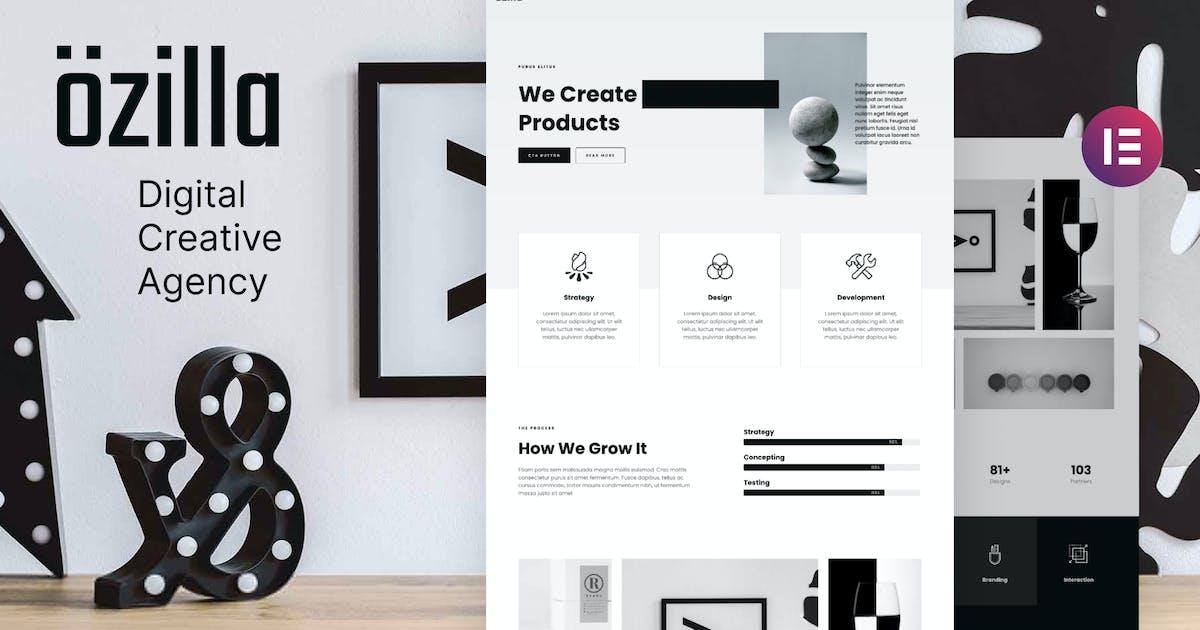 Download Ozilla - Digital Creative Agency Elementor Template Kit by deTheme